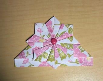 Floral Print Corner Bookmark