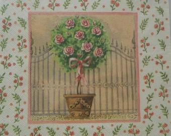 131 floral tree napkin