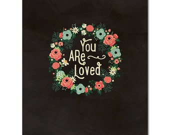 "8"" x 10"" Cardstock Print - You Are Loved from Fancy Pants"