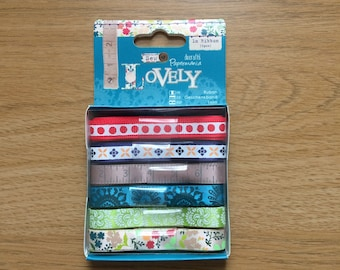 Sew Lovely Assorted Ribbon Set 6x1m