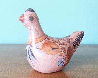 Lovely vintage Mexican mod painted pottery bird