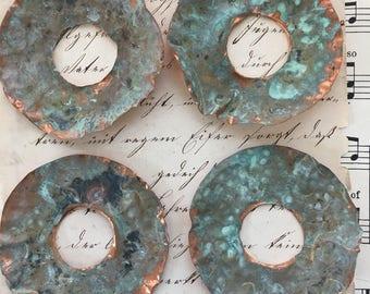 Verdigris Copper Discs
