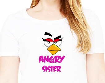 Angry Birds , Iron On Transfer , Angry Birds Sister , Sister Birthday Shirt Design , Angry Birds Printable , Instant Download , Digital File