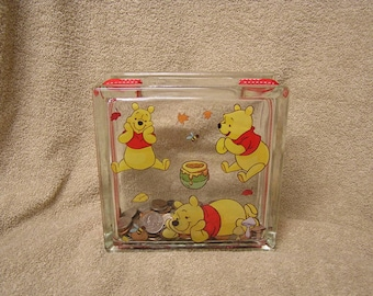 Winnie The Pooh & Honey Too Glass Bloc Decor Bank