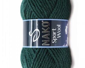 NAKO Sport Wool, wool yarn, acrylic yarn, knitting yarn, winter yarn, crochet yarn, baby yarn, hat yarn,shawl yarn, pullover