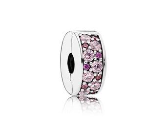Authentic Pandora Pink & Purple Mosaic Elegance Clip 791817CZSMX