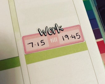 28 Work shifts schedule planning stickers all planners  happy planner filofax recollections