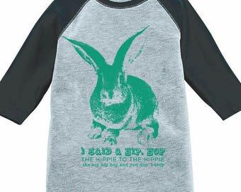 Cute Easter Bunny Shirt, Rabbit T-Shirt, Kids Bunny Shirt, Raglan Baseball Tee, Toddler, Youth, Girls, Boys, Cute Animal Shirt, Bunny Rabbit