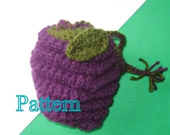 PDF Pattern - Blackberry Crochet Wristlet