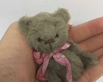 Morgan - One of a kind Miniature Artist Bear - VEGAN