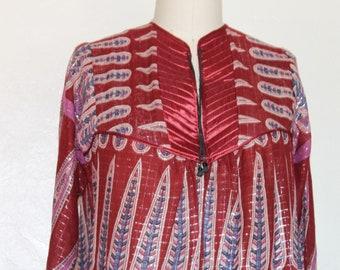 Vintage 70s 80s India Light Gauze BOHO Ethnic Dress one size