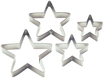 Stars Nesting Cookie Cutter Set - Wilton Cookie Cutters - Nesting Stars Cookie Cutter Set - Star Cookie Cutters