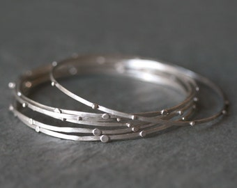 Stack Bangle in Sterling Silver ONE only