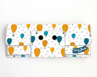 Vinyl lange Brieftasche - Ballonfahrt / Vegan, hübsche, große Brieftasche, Kupplung, Kartenetui, Vinyl Brieftasche, groß, Heißluftballon. entzückende, handgefertigt