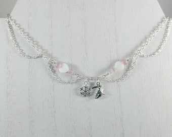 Snow Bunny Necklace, BBC, Queen of Spades Initial Jewelry, Personalized Jewelry, Sexy Anklets, Swinger Jewelry, Kinky,