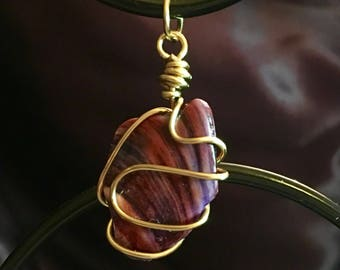 Wire Wrapped Shell pendant