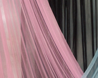 Sheer Nylon Tricot 108 inches wide 15 Denier in Pink