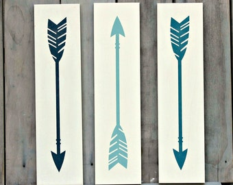 Set of 3 Arrows Signs - Arrow Decor - Nursery Decor - Nursery Decoration - Painted Arrow Sign - Rustic Arrow Decor - Rustic Nursery Sign