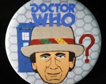 Doctor Who. Seventh Doctor. Custom 38mm Pin Badge.