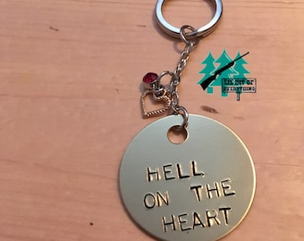 Hell On The Heart Stamped Keychain