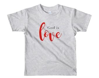 God is love Short sleeve kids t-shirt
