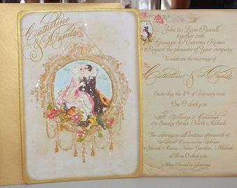 Pierrot Au Claire de la Lune Wedding Invitations