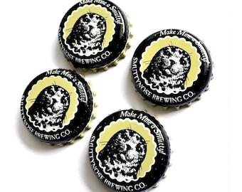 Craft Beer Magnet Set, Smutty Nose Beer Cap Magnets, Beer Bottle Top Magnets, Set of Four, File Cabinet Magnet, Refrigerator Magnets