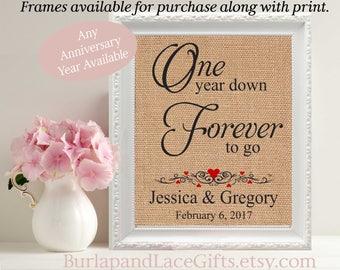 1, 1st Anniversary, Gift for Wife, 1 Year Anniversary, 1st Anniversary Gift, Gift to Wife, One Year Anniversary Gift,  1 Year Down (208)