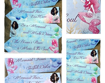 Set of 4 Mermaid Large Party Decoration Arrows