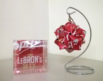 Sprite LeBron's Mix 6 Can Origami // Upcycled Recycled Repurposed Art // Valentines Day // weird gifts // NBA // basketball // King James