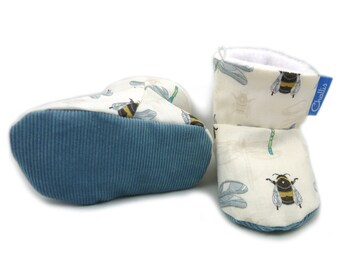 Baby Boy Gift, Baby Booties, Baby Boy Clothes, Baby Slippers, Crib Shoes, Baby Shower Gift, Baby Boots, Soft Sole Shoes, Baby Shoe, Slippers