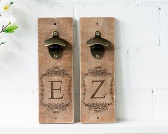 Holz Flaschenöffner Männer Geschenk für ihn Flaschenöffner Wand Trauzeugen Flaschenöffner Geschenk Ideen personalisierte Holz Trauzeugen Geschenk-Set