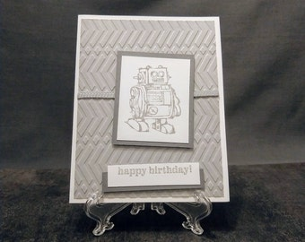 Handmade Card - Robot Birthday Card