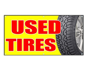 Used Tires Vinyl Banner