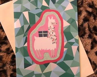 Llama mosaic card