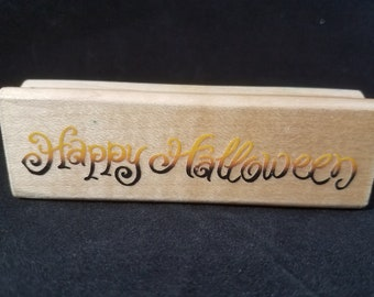 Happy Halloween Rubber Stamp Used View all Photos