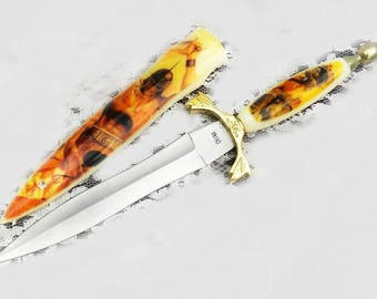 dagger with sheath - stainless steel dagger - dagger collectible - dagger sheath fantasy - sword knife - Epic Sword - Medieval sword # 71
