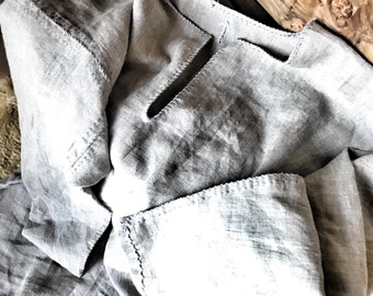 Viking linen under tunic, hand sewn linen shirt