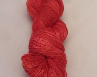 Cherry Pie- Sock Superwash Yarn- Hand Dyed- OOAK- 0019