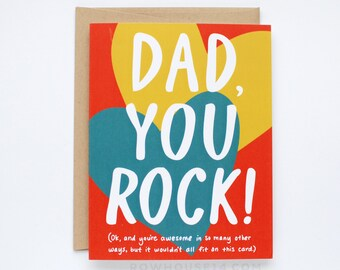 Fathers Day Card - Card for Dad - Dad You Rock