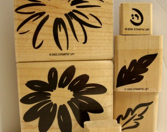 Sunflower Rubber Stamp, Two Step Stamping Sunflower, Stampin Up Sunflower Rubber Stamps, Stampin Up Sunflower, Bold Flower Rubber Stamp