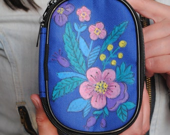Glucose meter case,diabetic case, diabetic bag, handpainted case