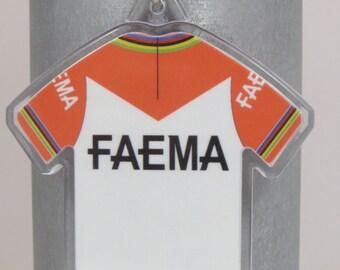 Eddy Merckx 1969 Tour de France Faema Jersey Cotton Mini Cycling Jersey Keychain Keyring