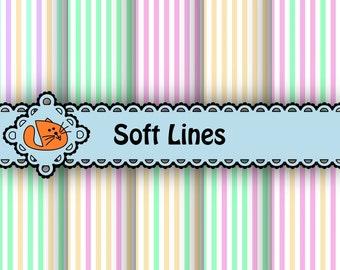 Soft Lines Digital Paper Pack