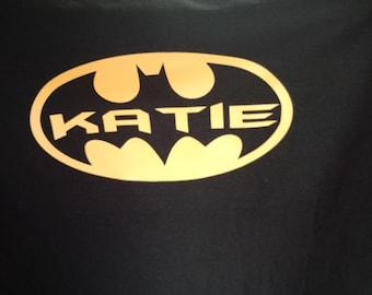 Personalized Batman shirt