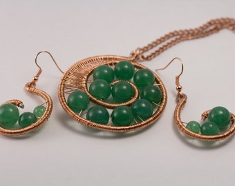 Spiral Wire Jewelry Set