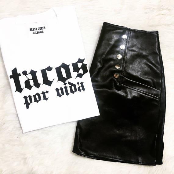 Tacos por Vida / Tacos for Life  / Statement Tee / Graphic Tee / Statement Tshirt / Graphic Tshirt / T shirt