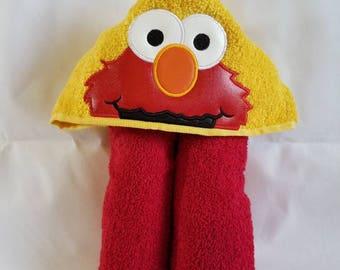 Elmo Hooded Towel