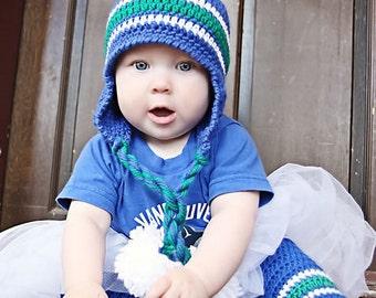Crochet HAT Pattern: Lil' Nuck 'Pom Pom' -  Crochet Touque, Crochet Leg Warmers, Sports Team Crochet, Canucks