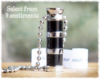 Mens Cremation Jewelry • Urn Necklace • Mens Personalized • Cremation Gifts For Men • Memorial Jewelry • Urn For Ashes